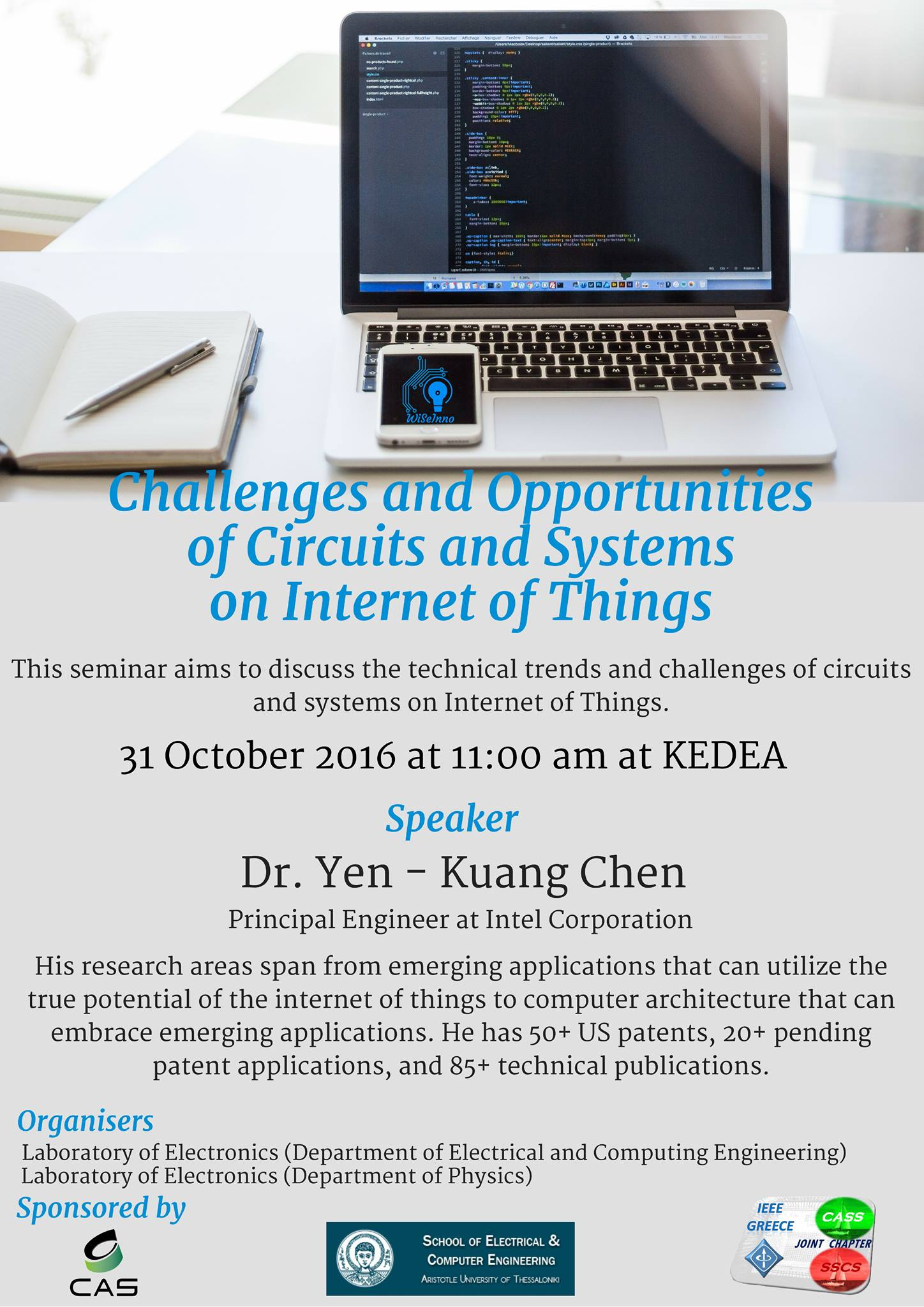 [CASS] Challenges and Opportunities of Circuits and Systems on IoT